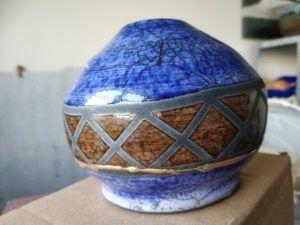 repaired ceramic vase kintsugi