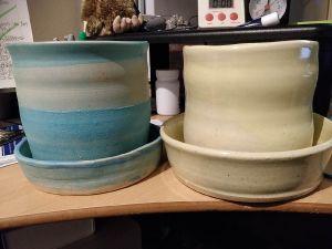 custom made ceramic plant pots and trays